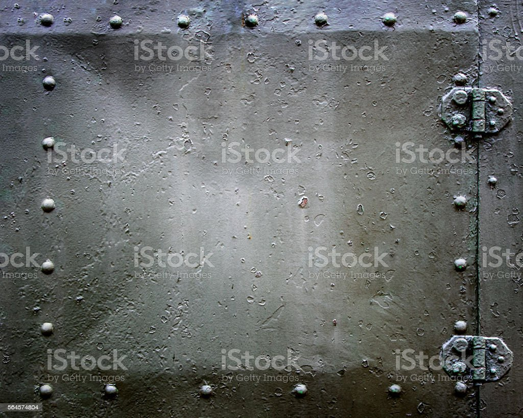 riveted hatch stock photo