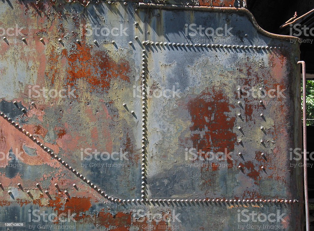 Rivets and Rust stock photo