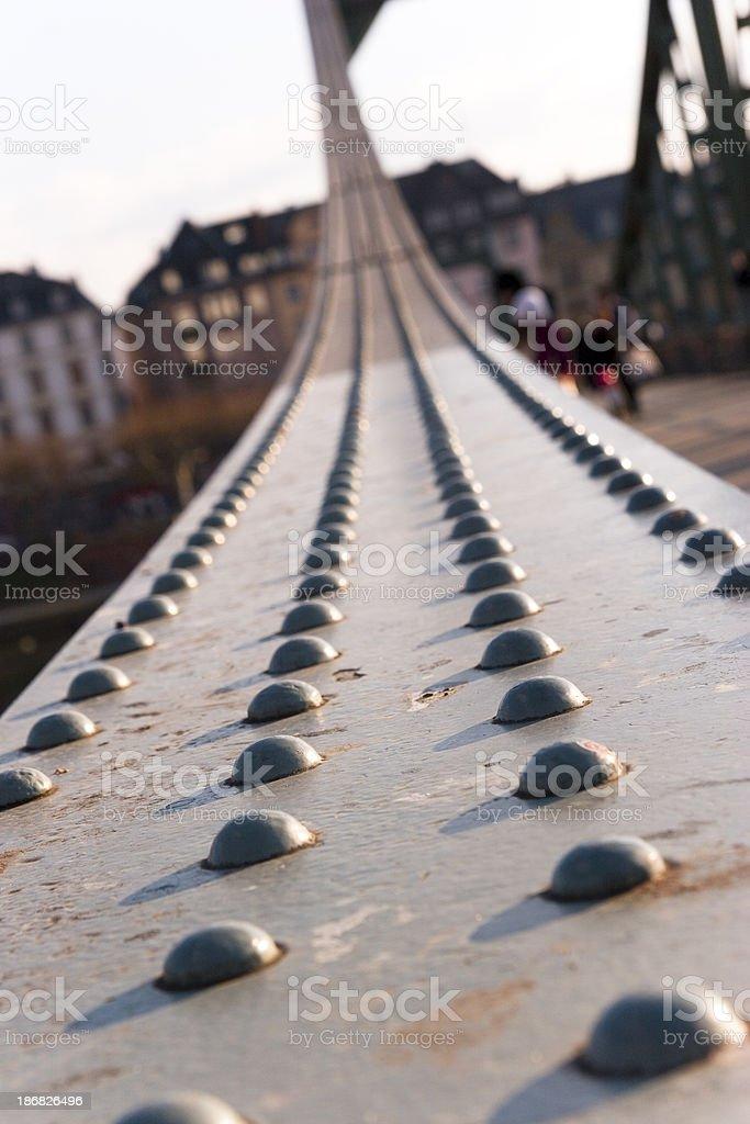 Rivets on an Old Bridge Girders stock photo
