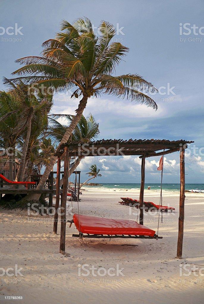riviera maya beach stock photo