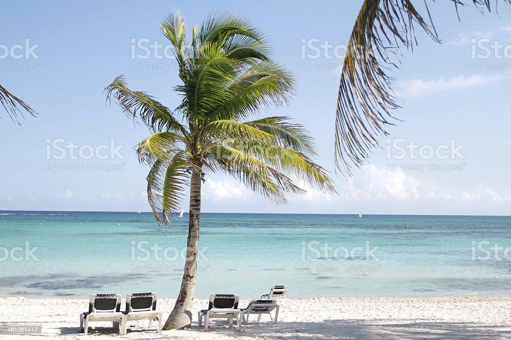Riviera Maya Mexico Beach stock photo