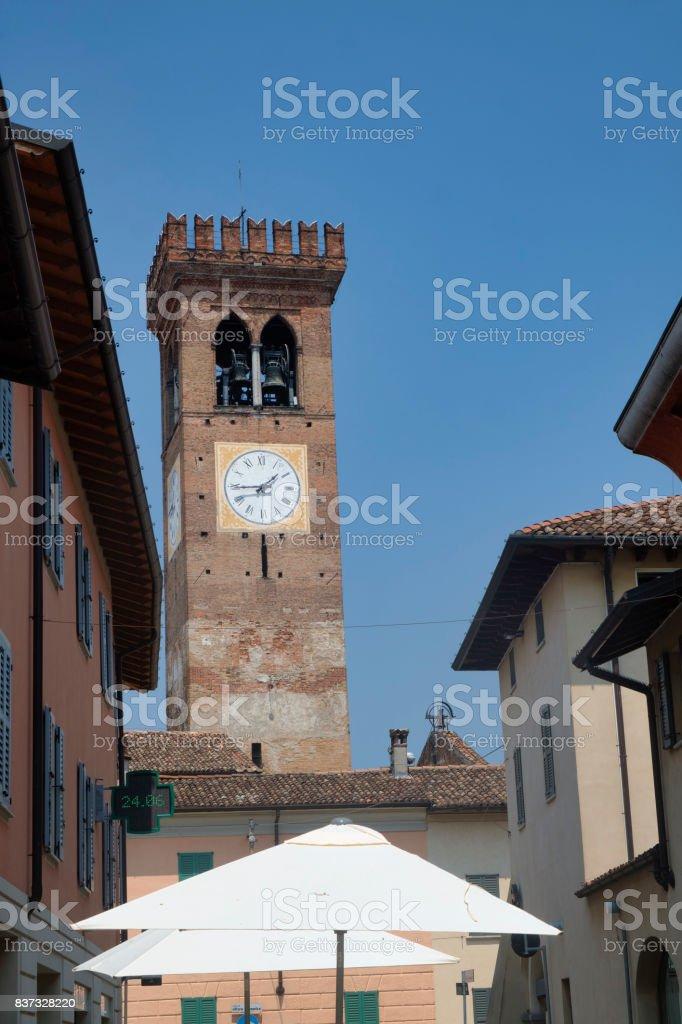Rivolta d'Adda (Cremona, Italy): old street stock photo