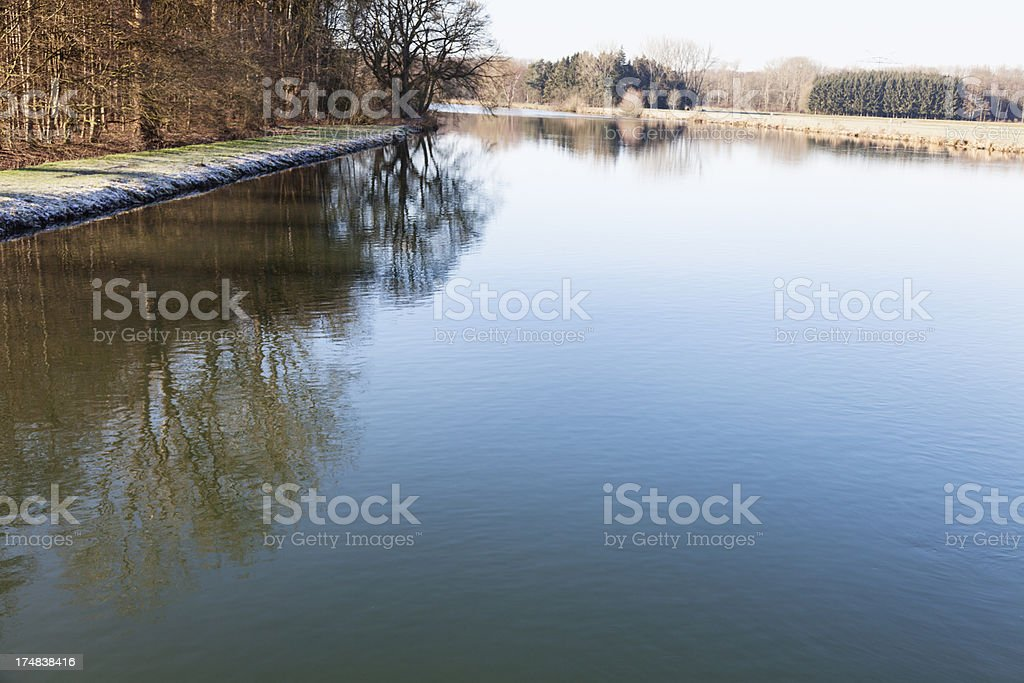 rivr Ruhr in witer royalty-free stock photo