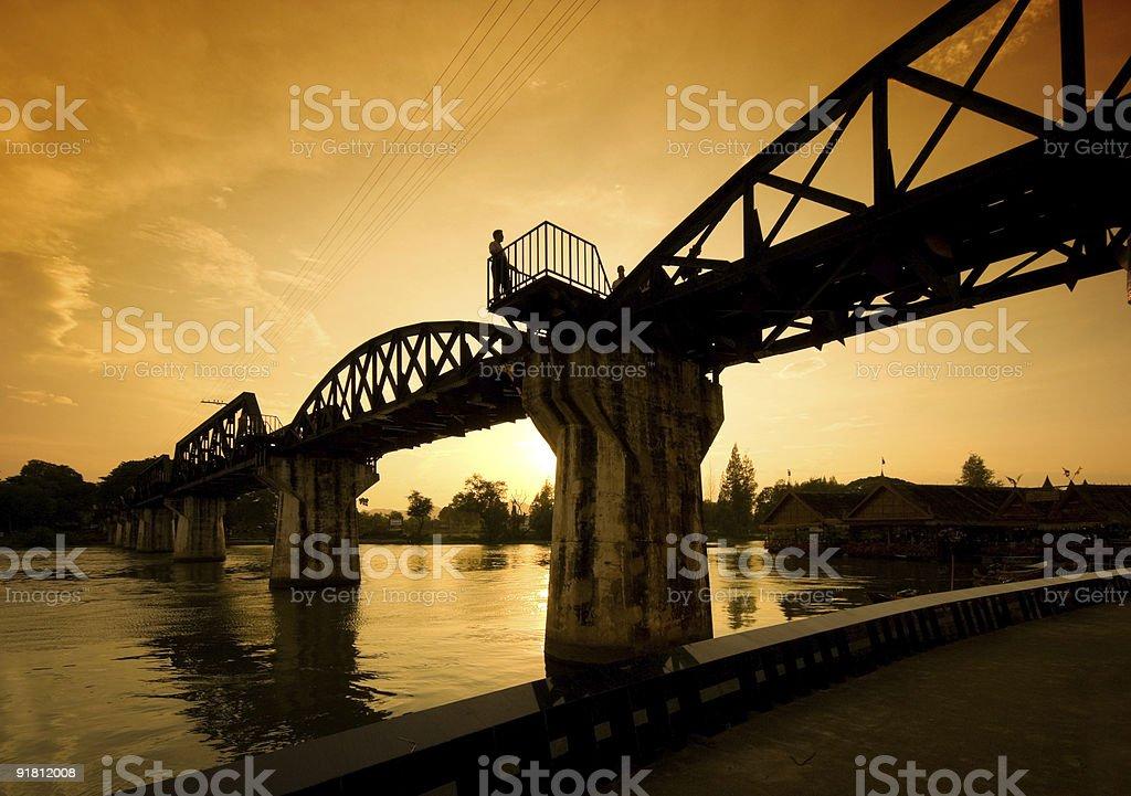 Riwer Kwai Bridge stock photo