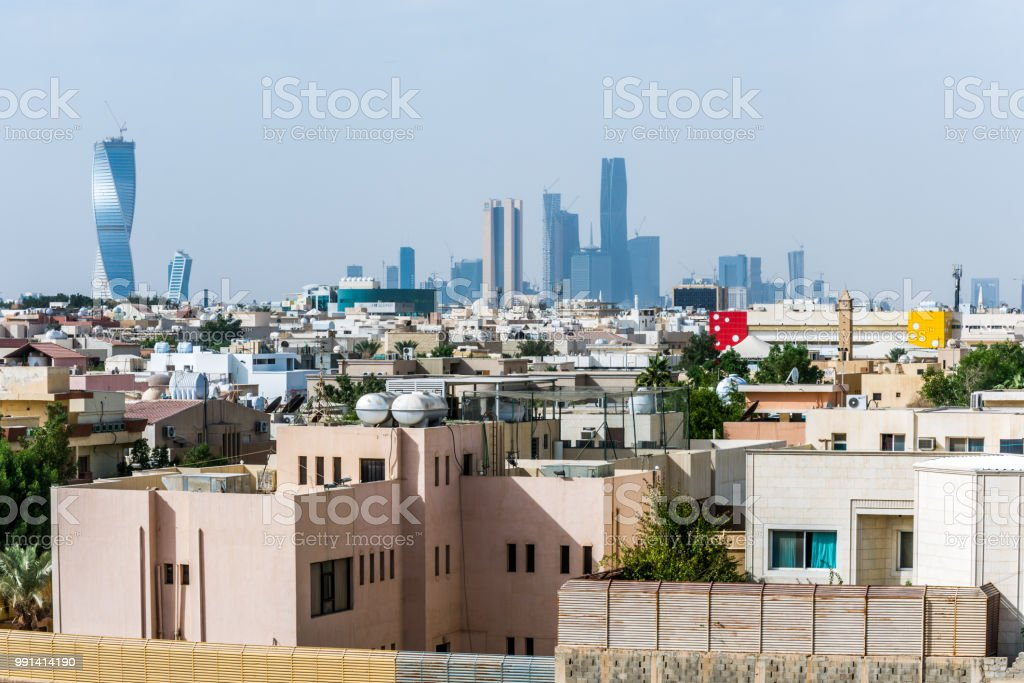 Riyadh city in Saudi Arabia stock photo