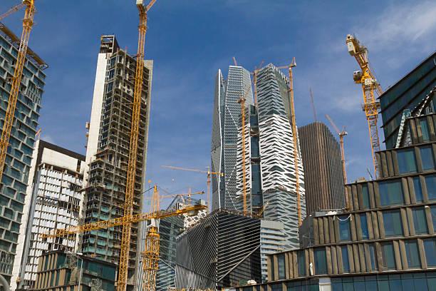 Riyadh financial district construction site stock photo
