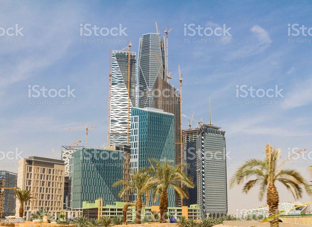 Riyadh dzielnicy finansowej Plac budowy – zdjęcie