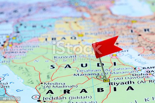 1151956281 istock photo Riyadh pinned on a map of Asia 491974750