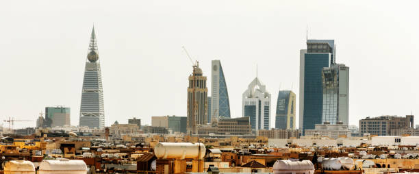 Riyadh, Saudi Arabia Riyadh, Saudi Arabia, KSA - November 21, 2017 Riyadh buildings being in Olaya in Riyadh saudi arabia stock pictures, royalty-free photos & images
