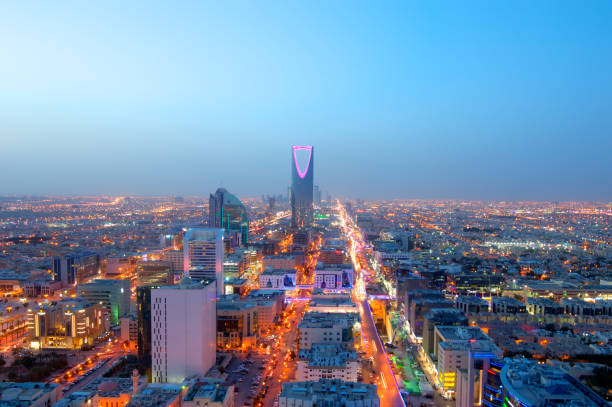 Riyadh skyline at night #7, Capital of Saudi Arabia Riyadh skyline at night #7, Capital of Saudi Arabia saudi arabia stock pictures, royalty-free photos & images