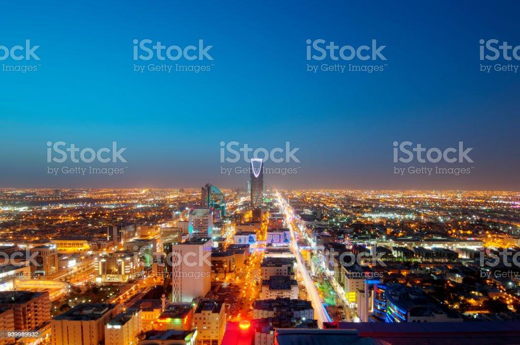 Riyadh skyline at night #9, Capital of Saudi Arabia – zdjęcie