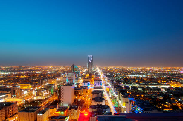 Riyadh skyline at night #9, Capital of Saudi Arabia Riyadh skyline at night #9, Capital of Saudi Arabia saudi arabia stock pictures, royalty-free photos & images