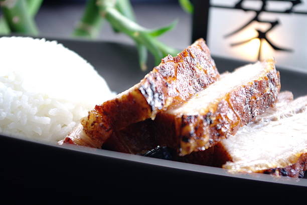 riz au porc laque  riz stock pictures, royalty-free photos & images