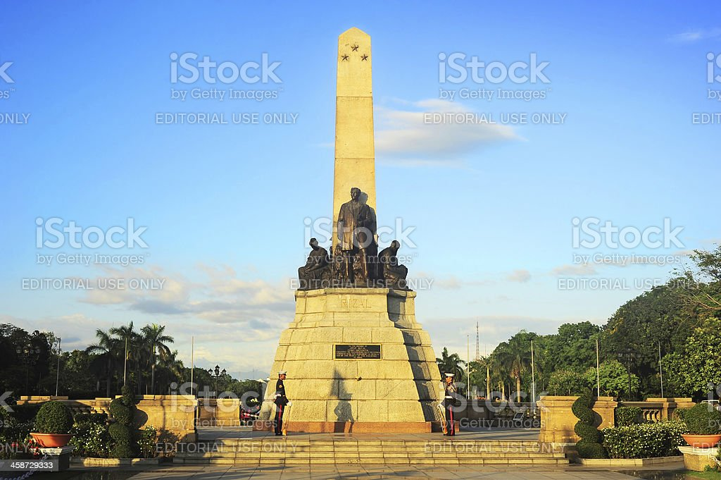 Rizal monument stock photo