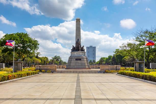 rizal park (Luneta) and Rizal Monument stock photo