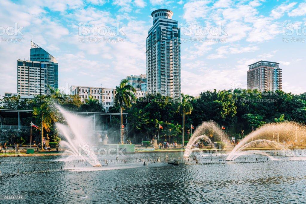 Rizal park, Manila Philippines stock photo