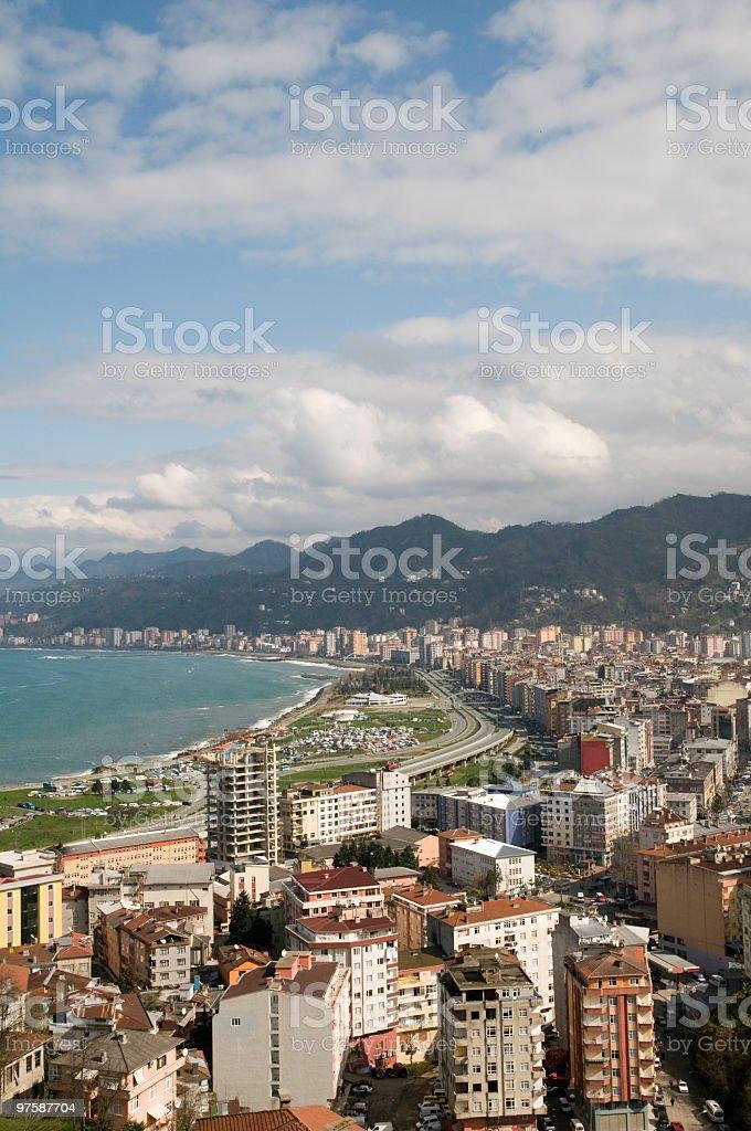 Rize vue sur la ville photo libre de droits