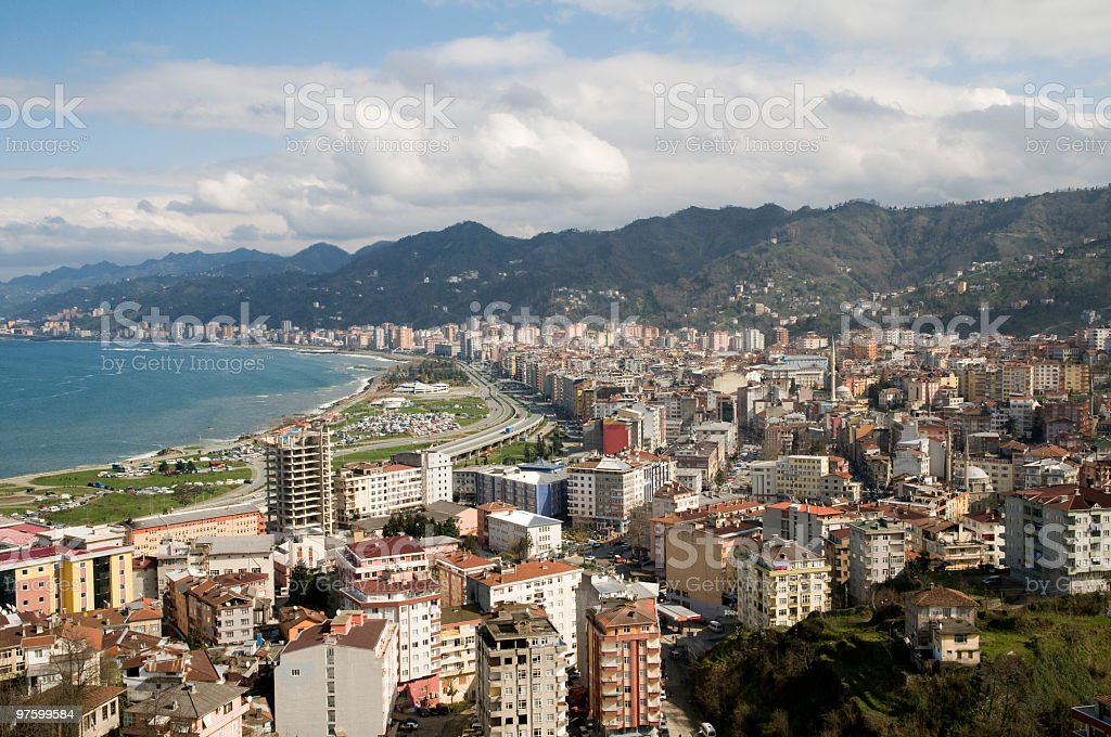 Rize city view royaltyfri bildbanksbilder
