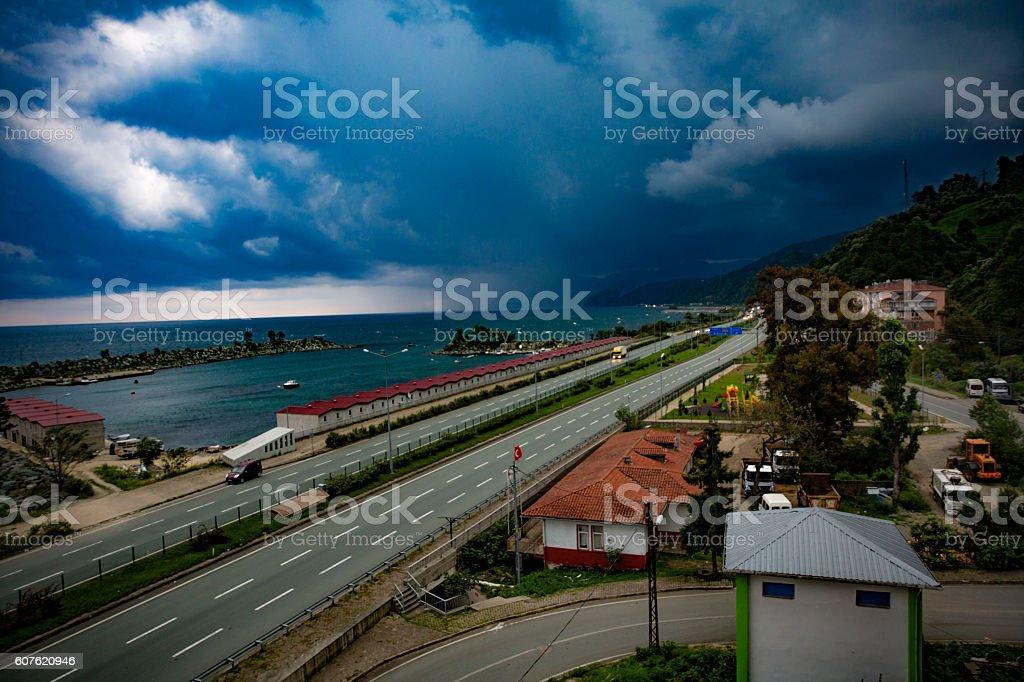 rize findikli blacksea view stock photo