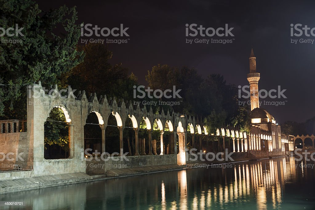 Rizvaniye Mosque and Holy Lake stock photo