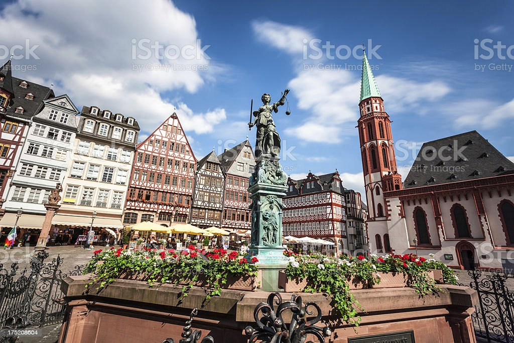 Römerberg Frankfurt stock photo