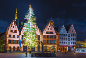 istock Römerberg Old Town Square at Christmas time in Frankfurt, Germany 1048401278