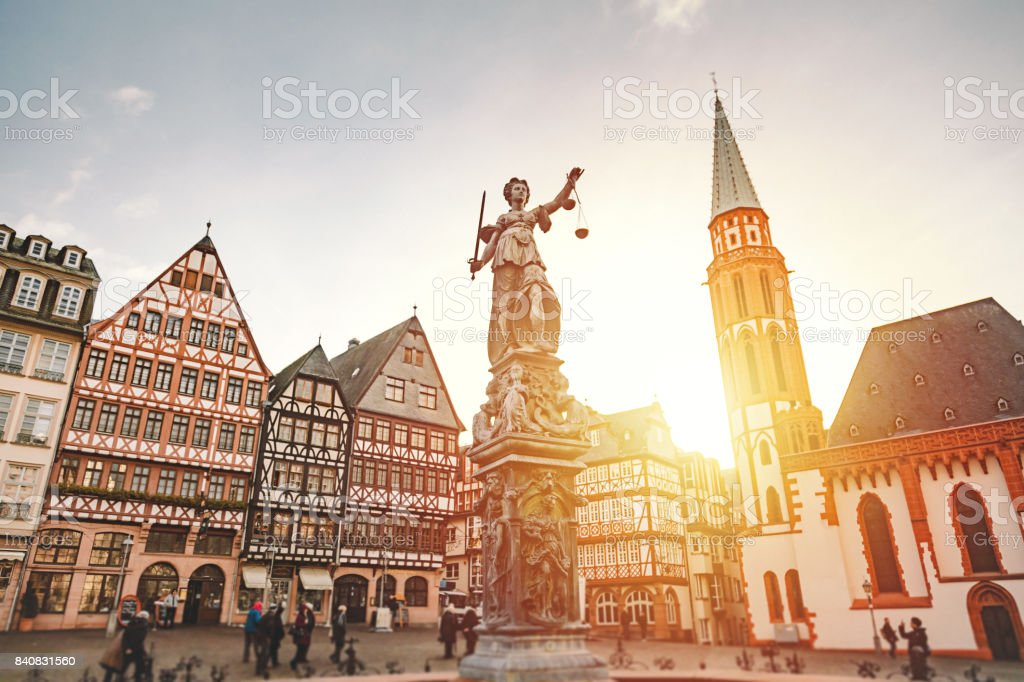 Römerberg Old Town Square in Frankfurt, Germany