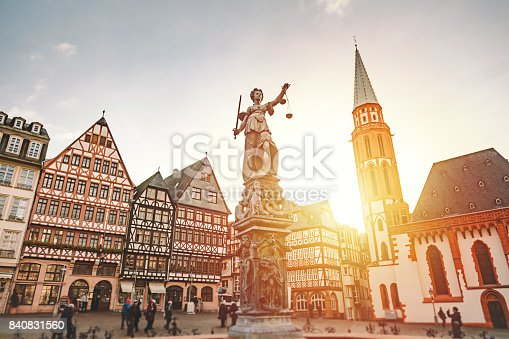 istock Römerberg Old Town Square in Frankfurt, Germany 840831560