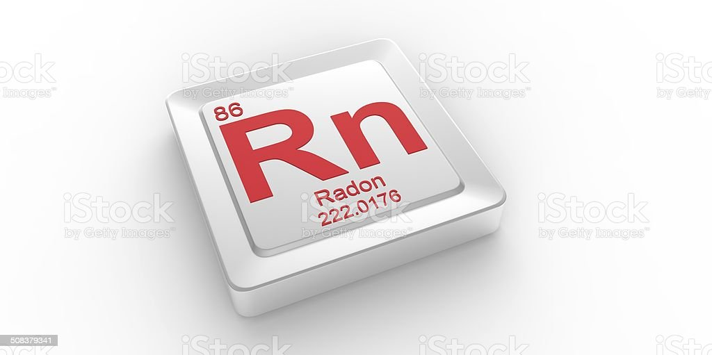 Rn Symbol 86 Material For Radon Chemical Element Stock Photo More