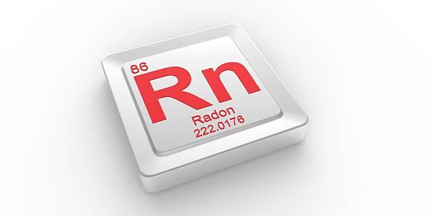 rn symbol 86 material for radon chemical element - radon test stockfoto's en -beelden