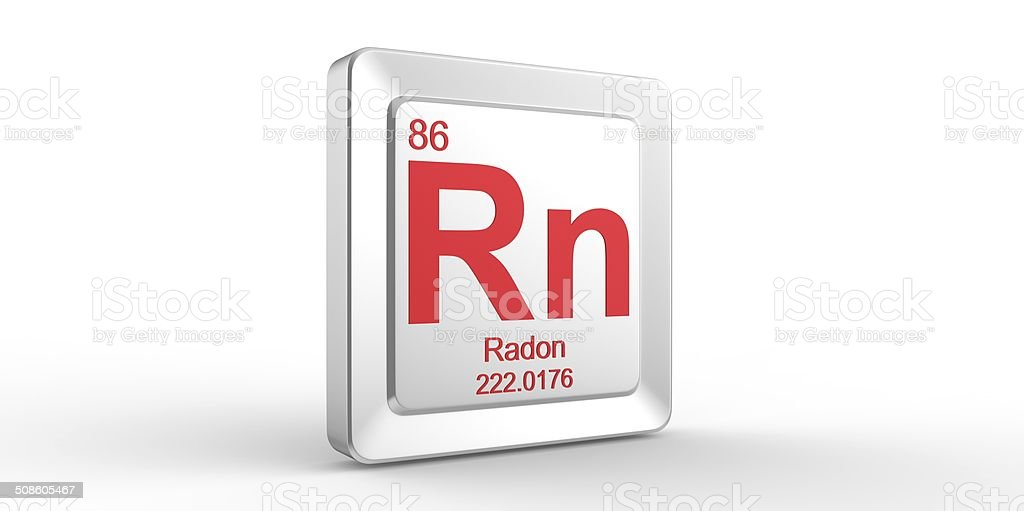 Rn Symbol 86 Material For Radon Chemical Element Stock Photo Istock