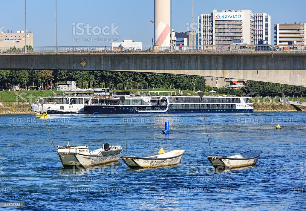 Rnine river in Basel, Switzerland royalty-free stock photo