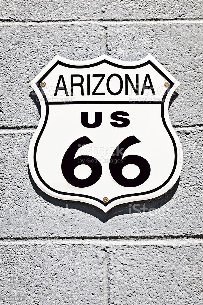 Road 66 Sign Arizona in Seligman, USA royalty-free stock photo