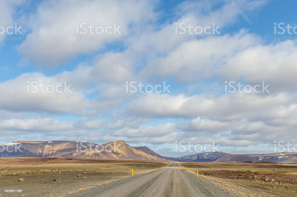 Road 870 from Kopasker to Raufarhofn in Iceland stock photo