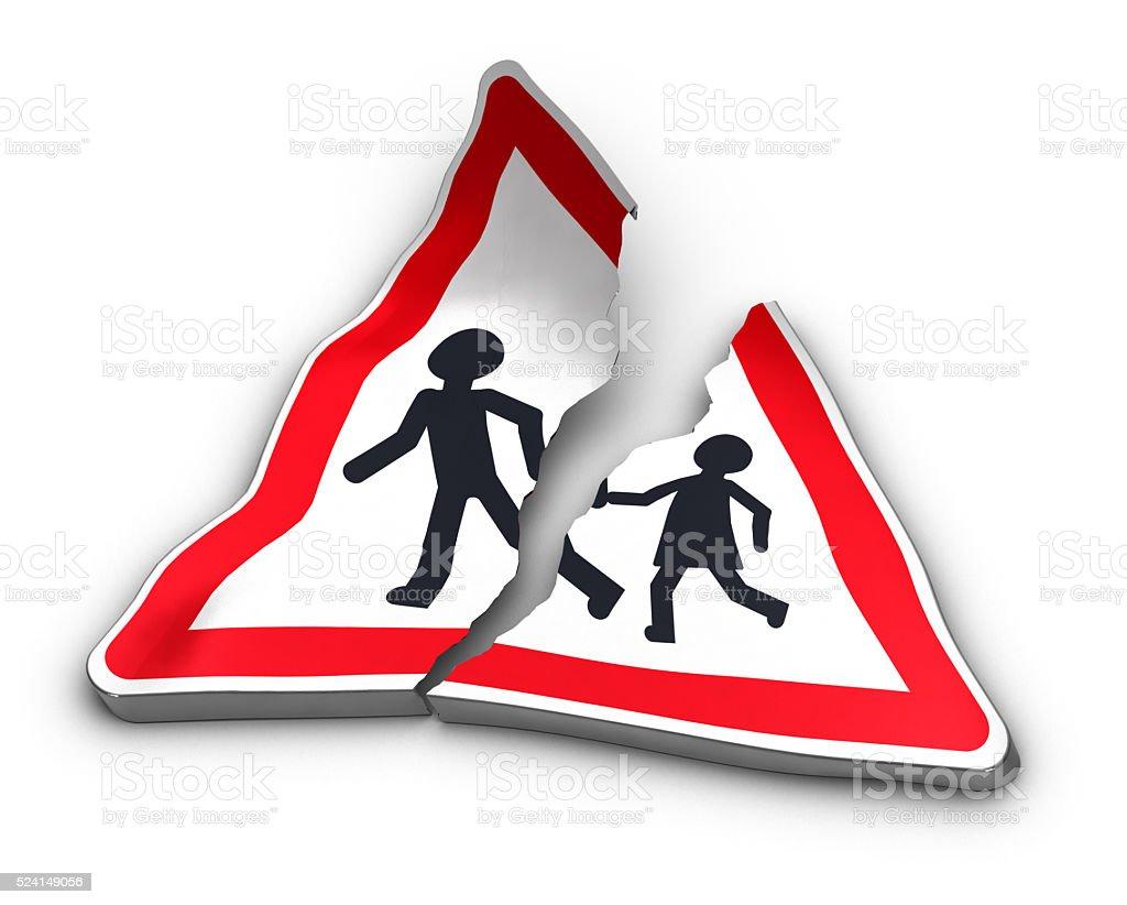 Road Accident Concept stock photo