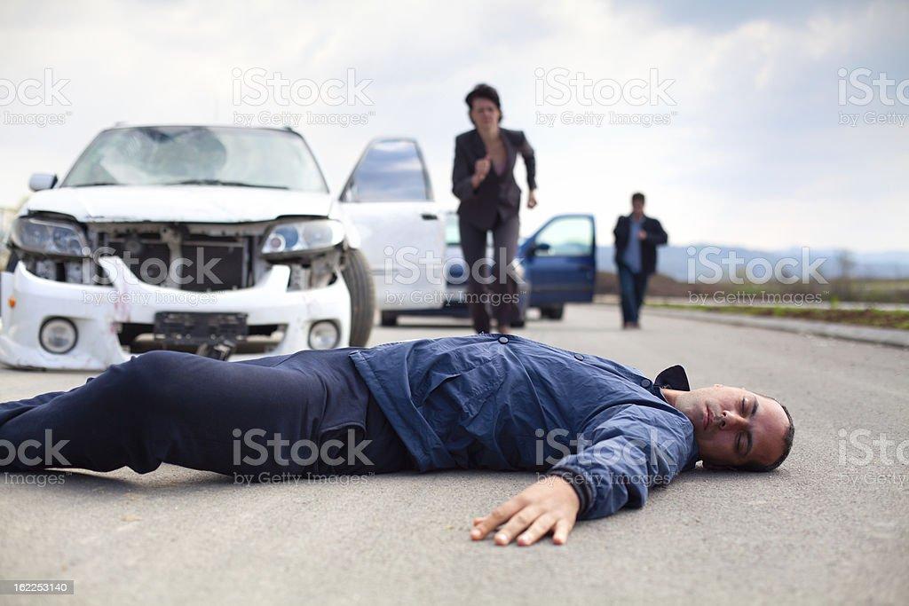 Road accident stock photo