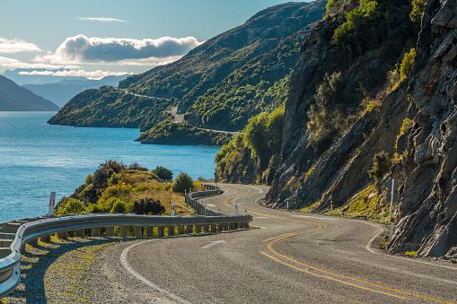Road Along Lake Wakatipu Stock Photo - Download Image Now