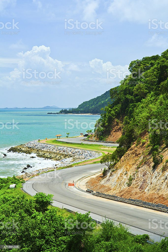 Road along the seashore royalty-free stock photo