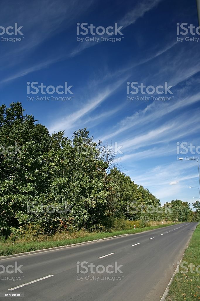 Road and blue sky royalty-free stock photo