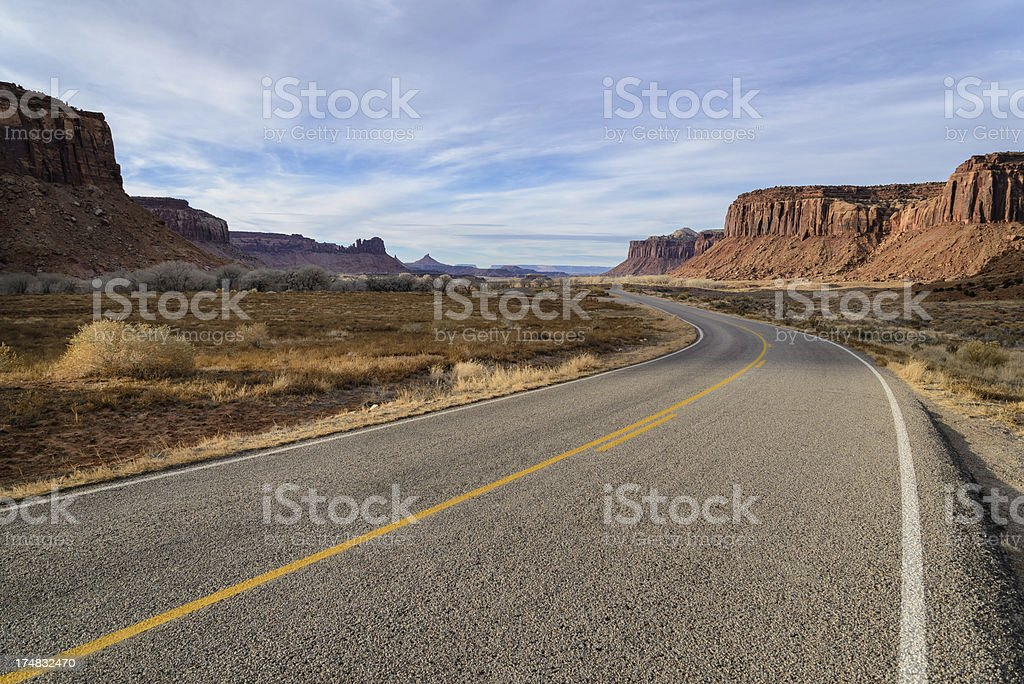 Road and Canyonlands Landscape stock photo