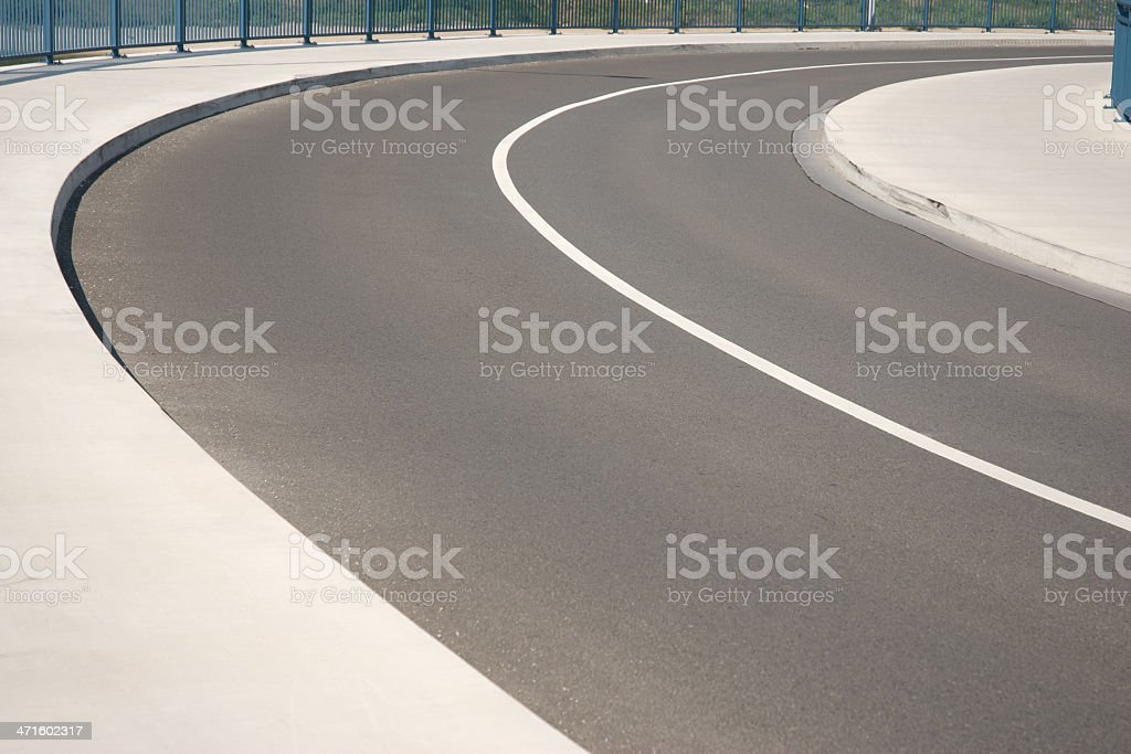 road and curve royalty-free stock photo