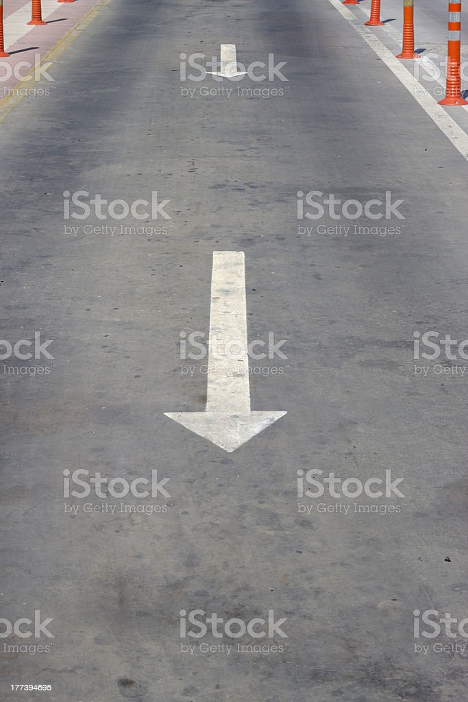 Road And Direction royalty-free stock photo