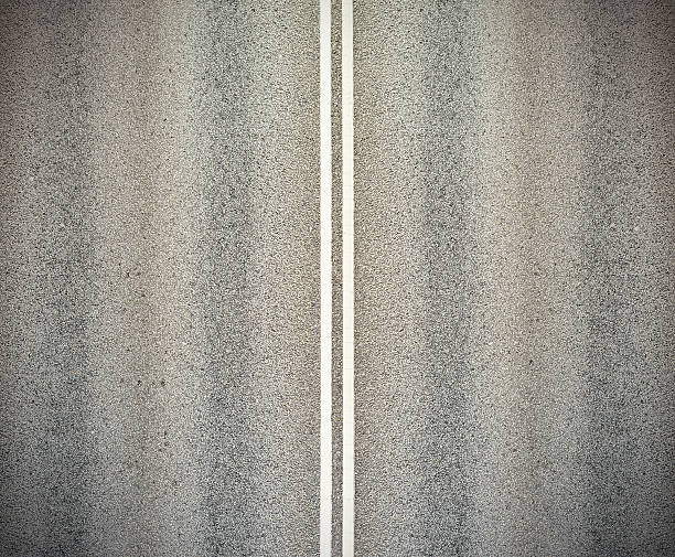 Road, and double white lines foto