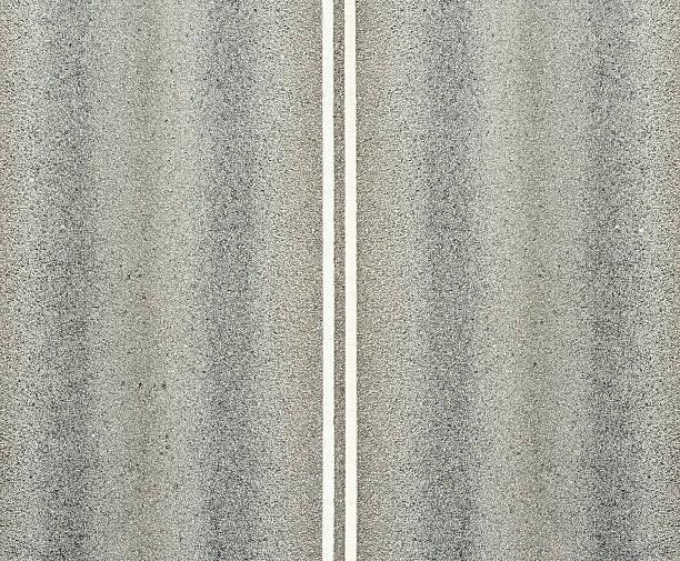 Road, et double lignes blanches - Photo