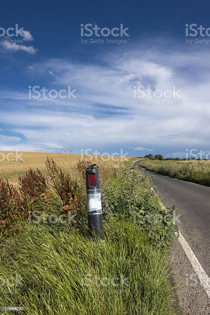 Road and Field stock photo