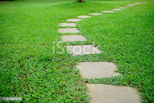 Front or Back Yard, Grass, Formal Garden, Stone - Object, Stone Material