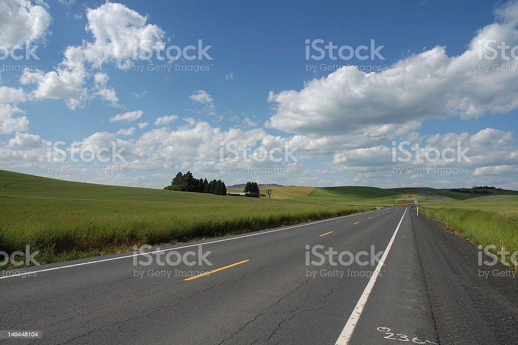 Road and Sky royalty-free stock photo