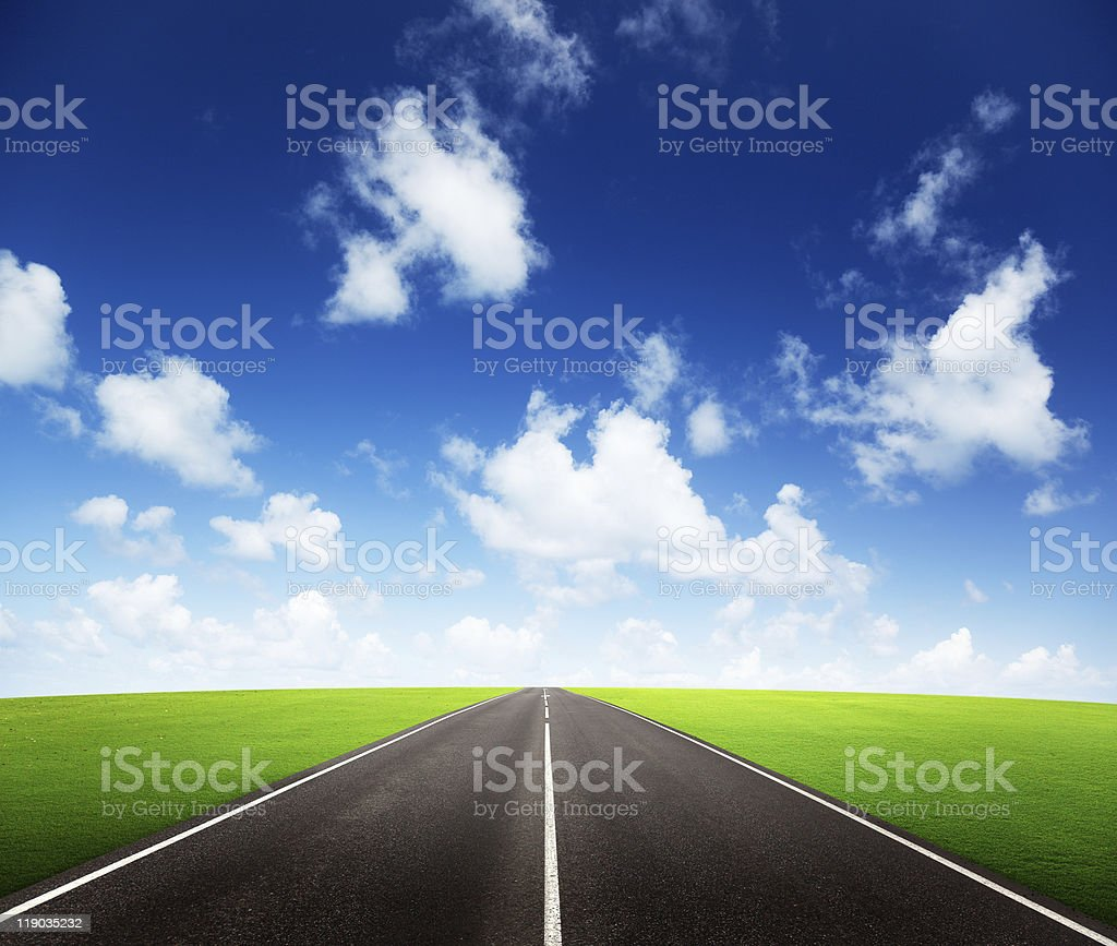 road and sunny day royalty-free stock photo