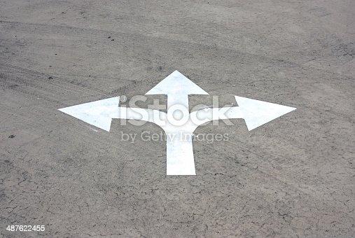 954712506istockphoto road arrow direction 487622455