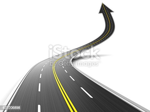 677206912 istock photo road arrow 677206898